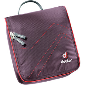 Deuter Wash Center II Borsa Organizer, aubergine/fire